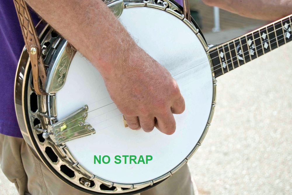 "Banjo Product Review The ""No Strap"" Banjo Strap"