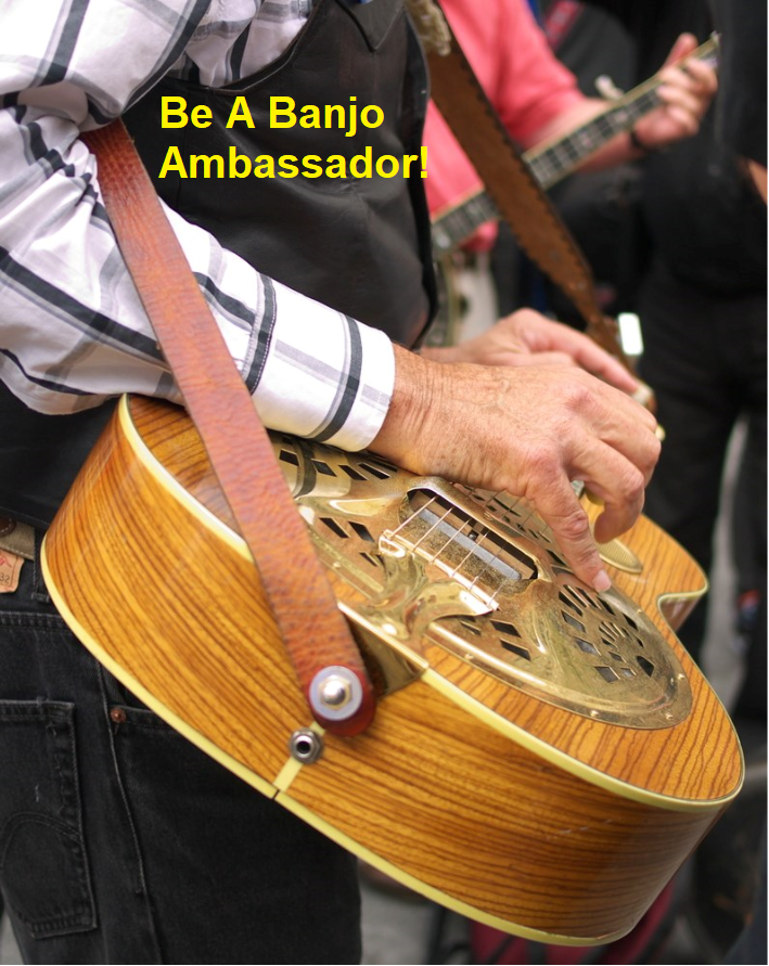 When You Pick Banjo You Make Others Smile. Be A Banjo Ambassador!